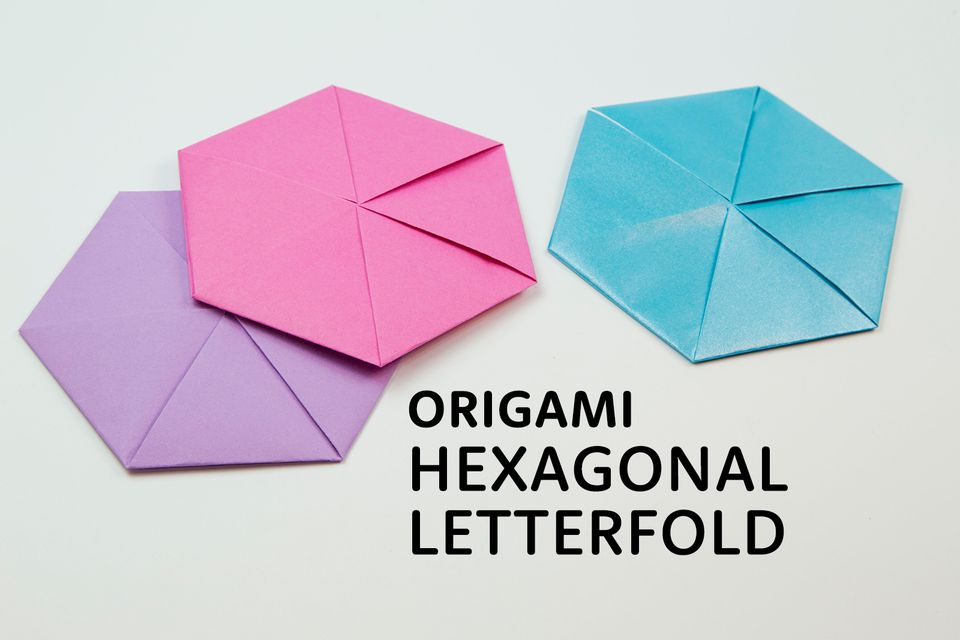 origami hexagonal letterfold tutorial 01