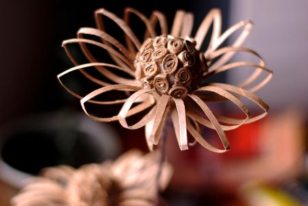 Do it yourself recycled cardboard tube flower paper craft supplies needed to make a paper flower from a recycled cardboard tube solutioingenieria Choice Image