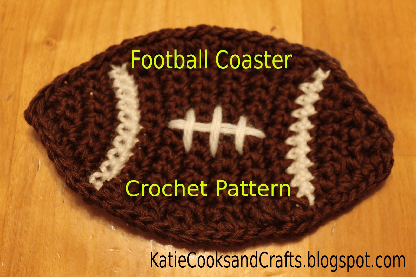 Football Coaster Free Crochet Pattern