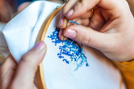 big sale 1db45 e7e3c Beginning Stitching  How to Cross Stitch a Small Design