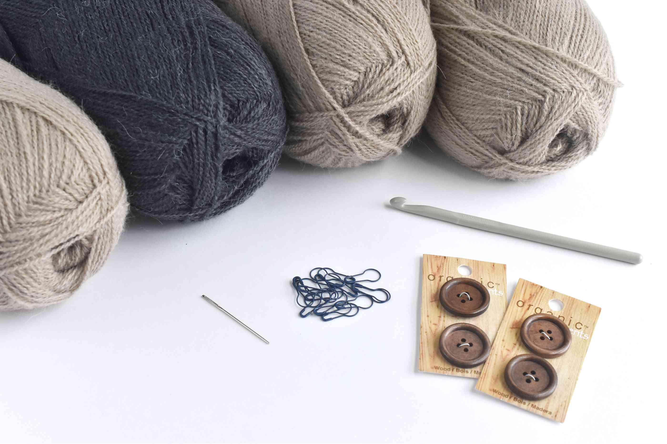 Convertible Poncho Crochet Supplies