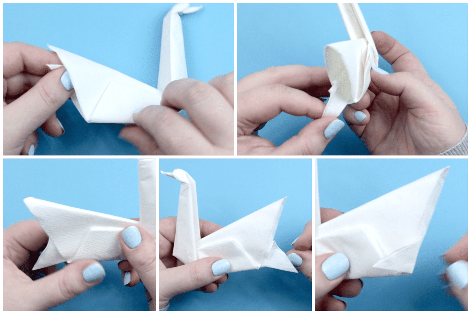 How to fold origami swan using napkins - JewelPie | 1066x1600