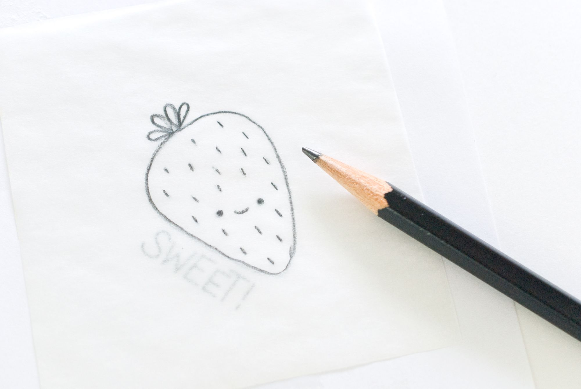 Tracing the pattern with a regular pencil