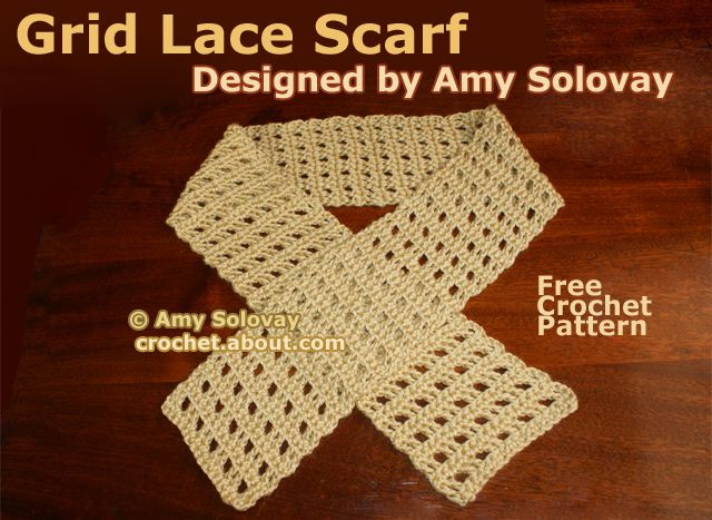 Grid Lace Scarf