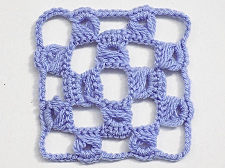 Broomstick Lace Crochet Square