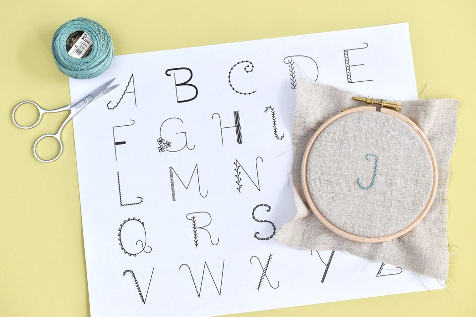 Alphabet Sampler Embroidery Pattern