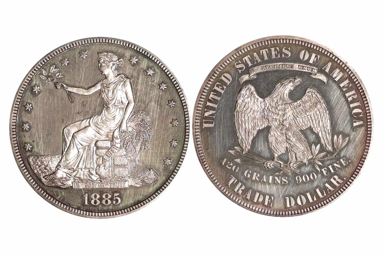 1885 Proof Trade Dollar