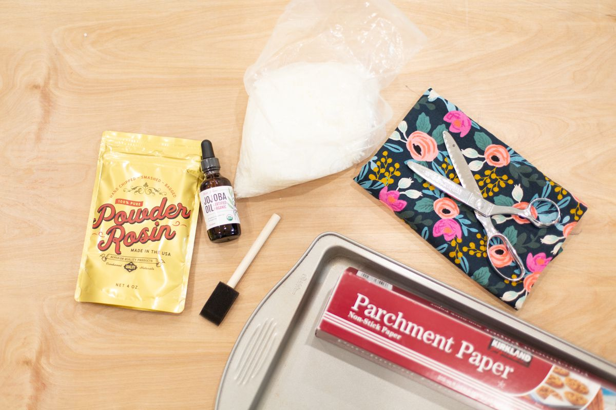 Gather materials for making reusable food wraps