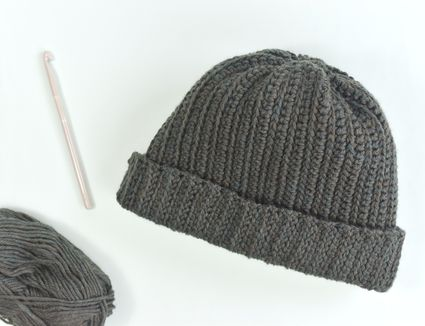 A Men's Winter Hat on a table