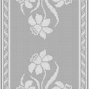 Daffodil Filet Crochet Chart Free Pattern