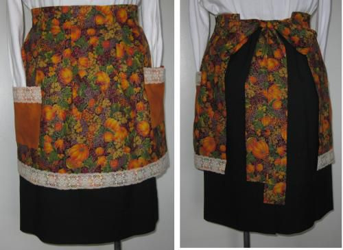 Tie Around the Waist Apron With Pleats