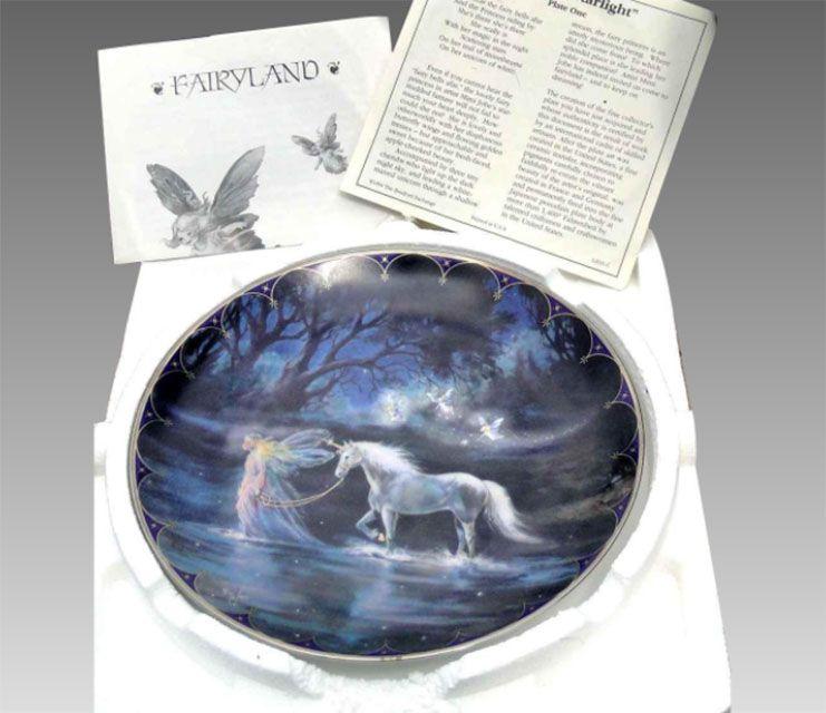 "Bradford Exchange Collector Plate ""Fairyland"""