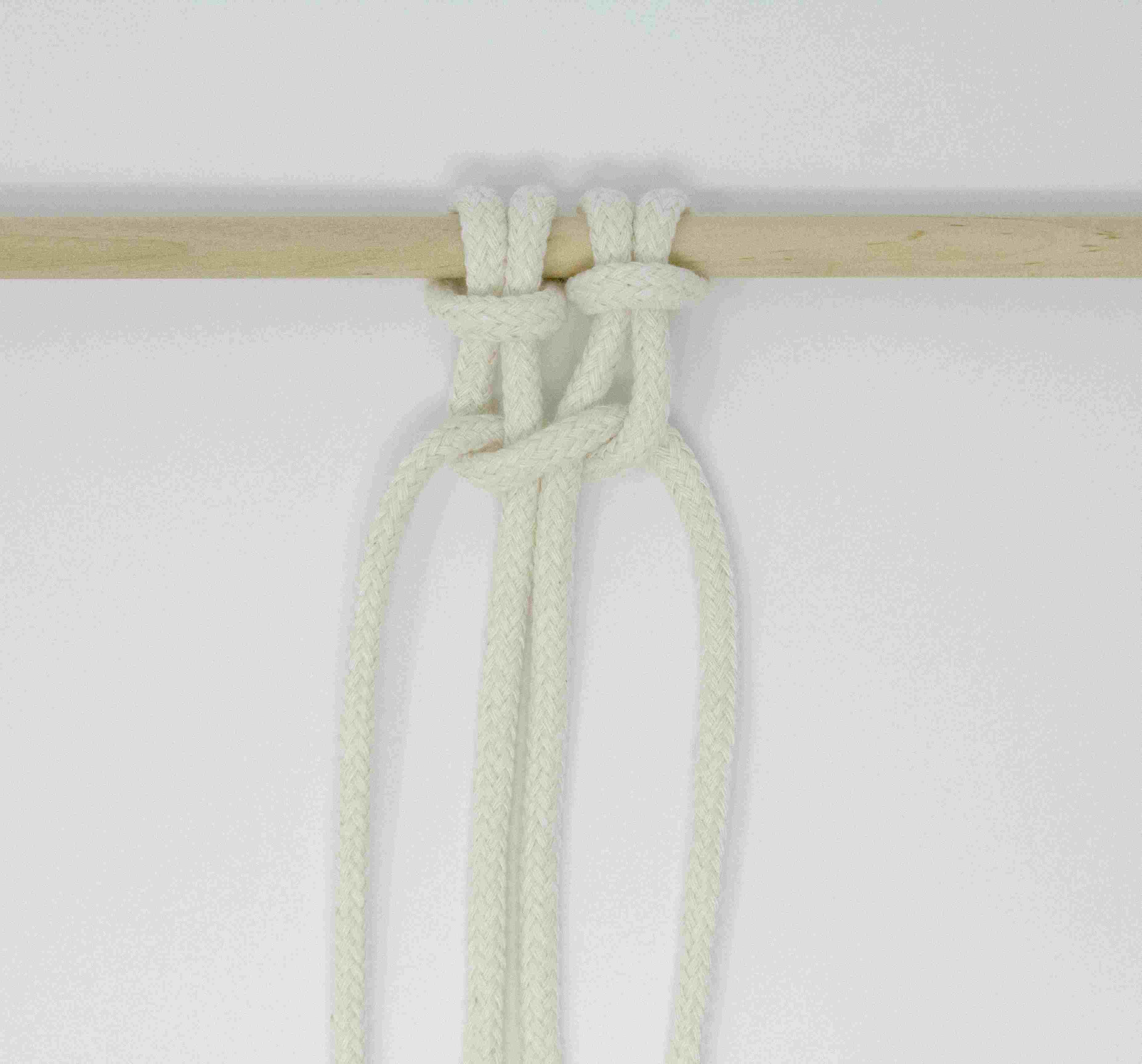 A half square knot