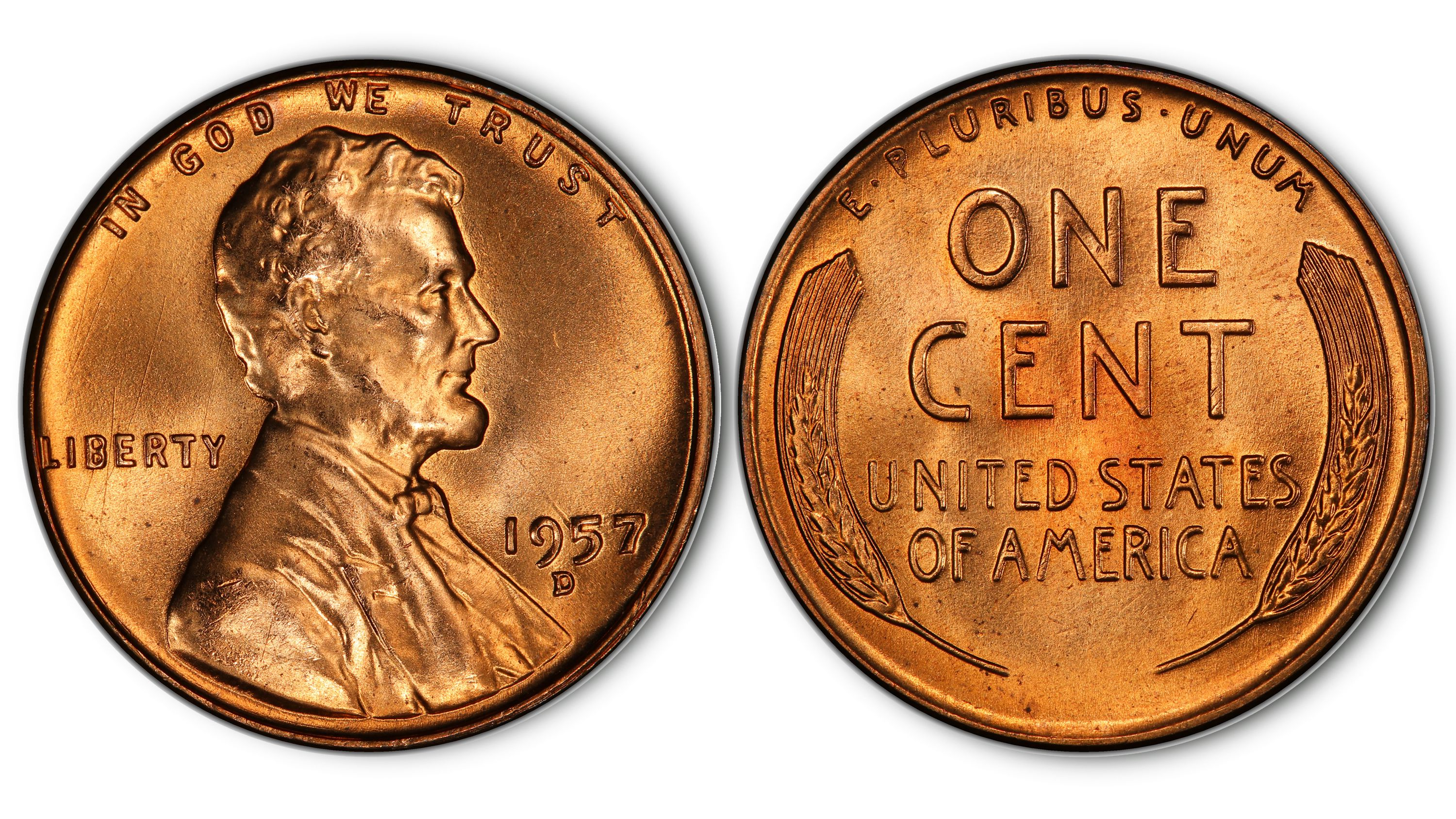 1957-P GOOD LINCOLN WHEAT PENNY NICE COIN FOR YOUR COLLECTION **MAKE AN OFFER**