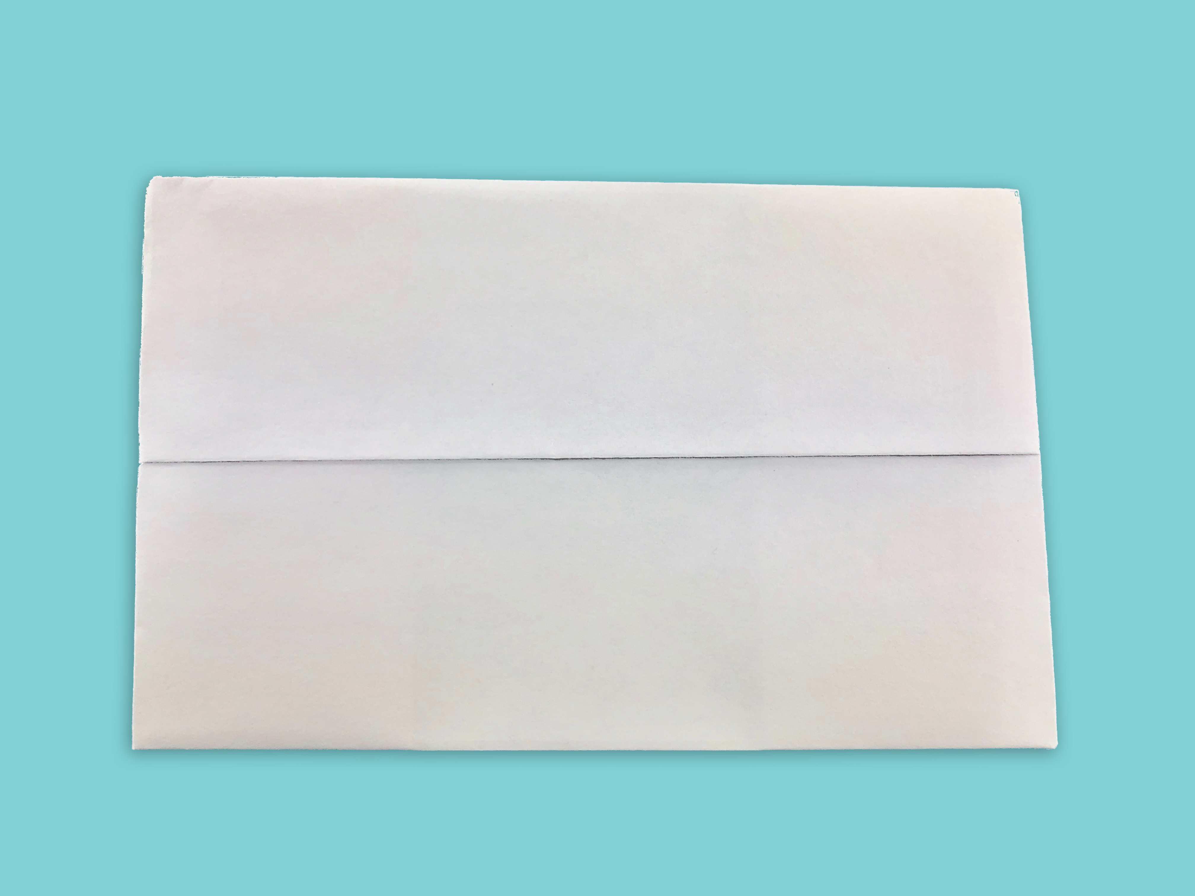 fliped folded paper