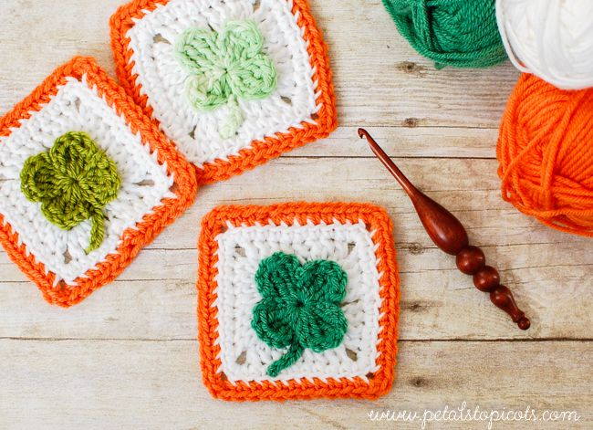 Shamrock Afghan Square Free Crochet Pattern