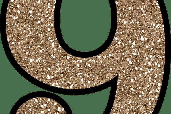 9 Glitter Numbers 0 - 9 Free Printable Numbers