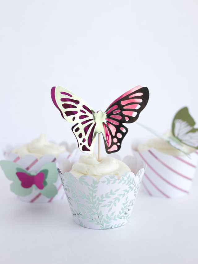 DIY Butterfly Cupcake Toppers