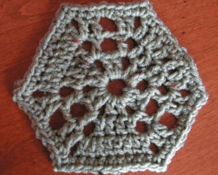 Bee-Inspired Hexagon Free Crochet Pattern