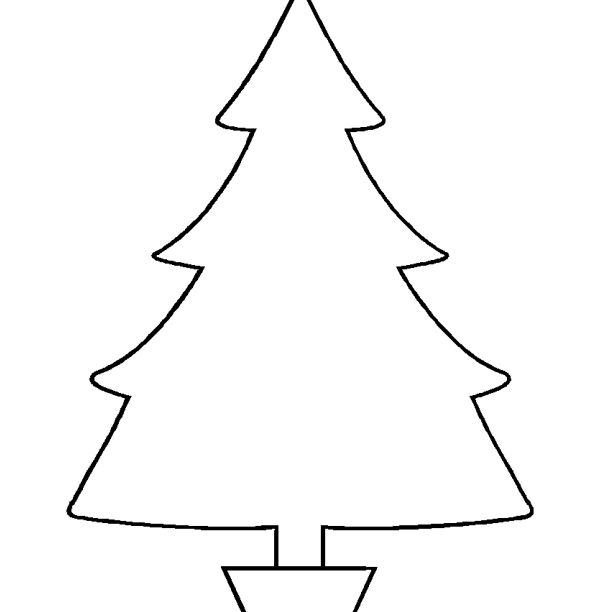 37 christmas tree templates in all shapes and sizes a large christmas tree in a pot maxwellsz