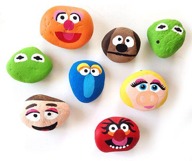 Painting Muppet Rocks