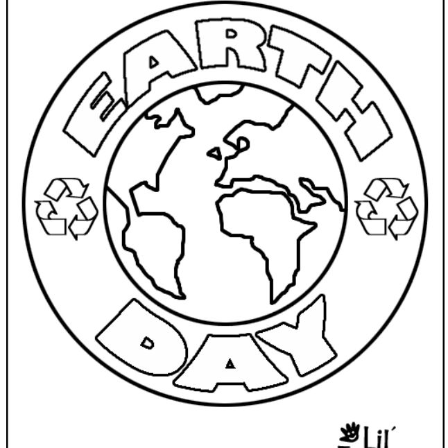 Happy Earth Day coloring page | Free Printable Coloring Pages | 646x646