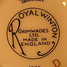 Grimwades Ltd. - Stoke, Staffordshire England Royal Winton Welbeck 1995 Mark