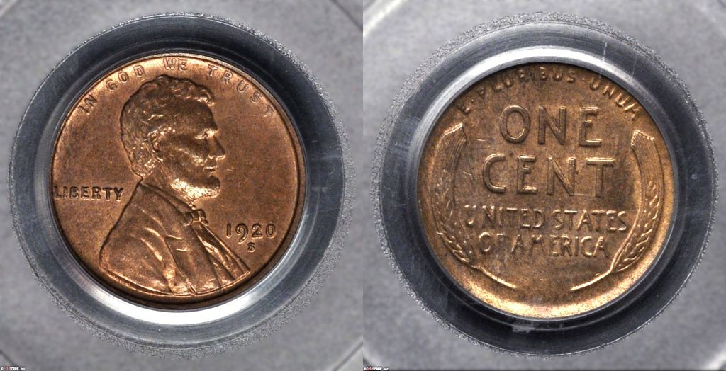 Lincoln Wheat Penny Graded Mint State-61 (MS61) Brown