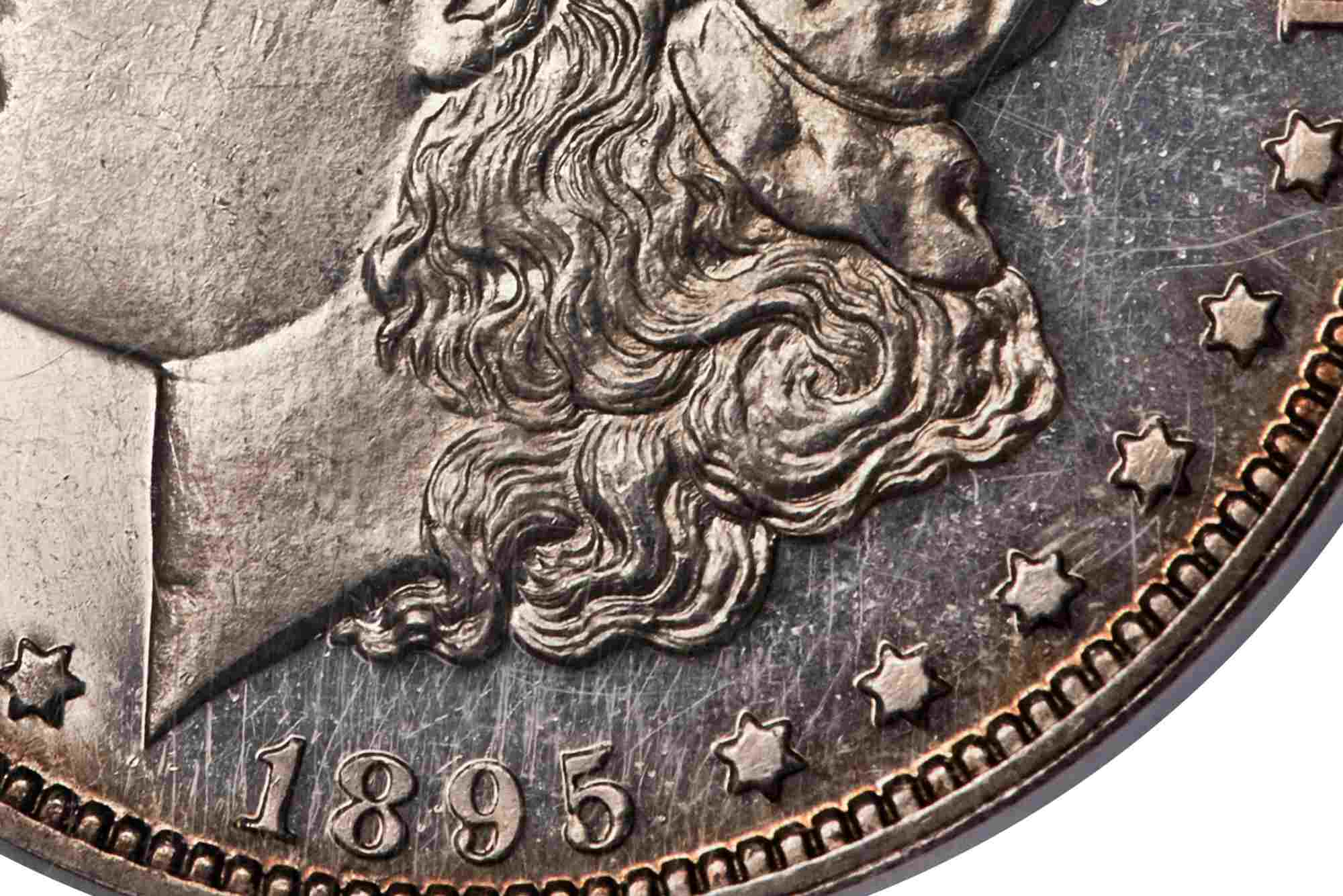 Hairline Scratches on a Morgan Dollar
