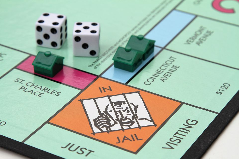 Monopoly game with Jail corner