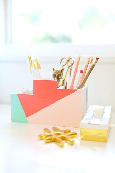 42 diys for a beautiful organized office diy stationery organiser solutioingenieria Choice Image