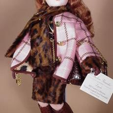 Madame Alexander Cissy in Coral and Leopard Travel Ensemble
