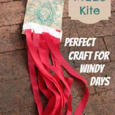 kid-made kite craft