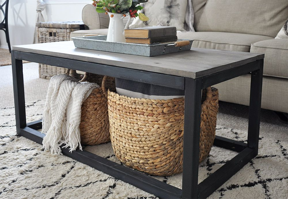 A Diy Coffee Table In Living Room