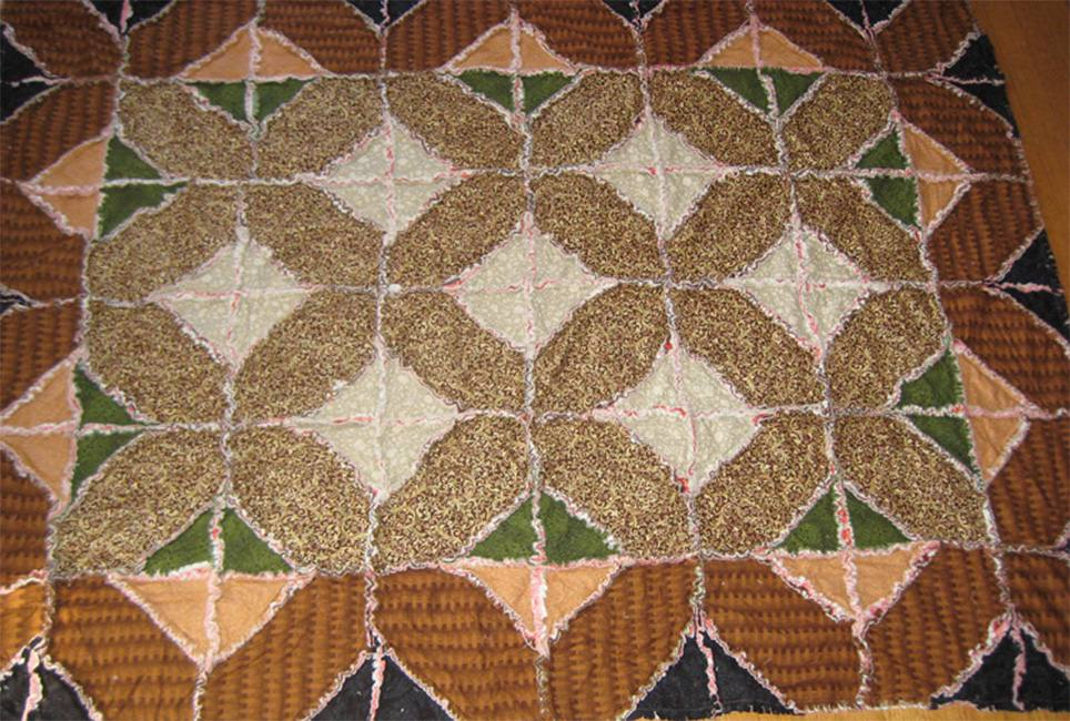 Indian Hatchet Rag Quilt Pattern