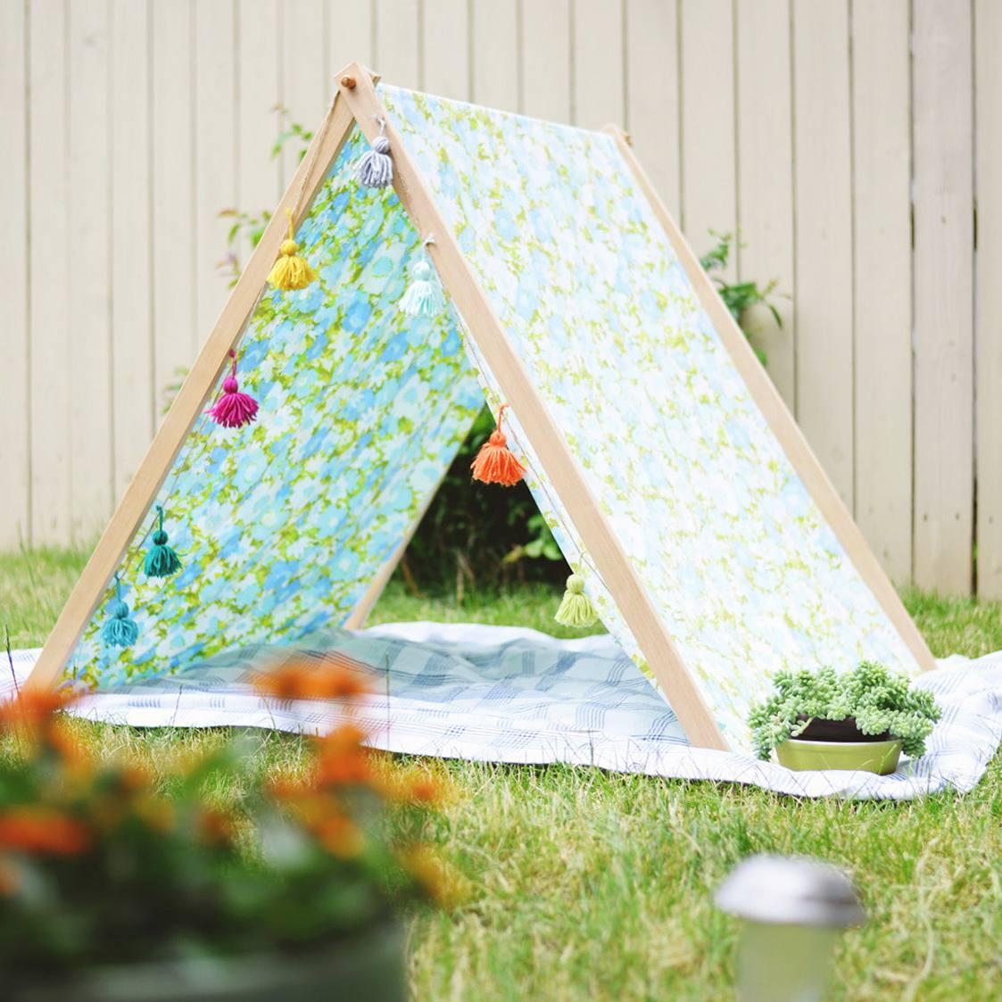 DIY fold-up tent