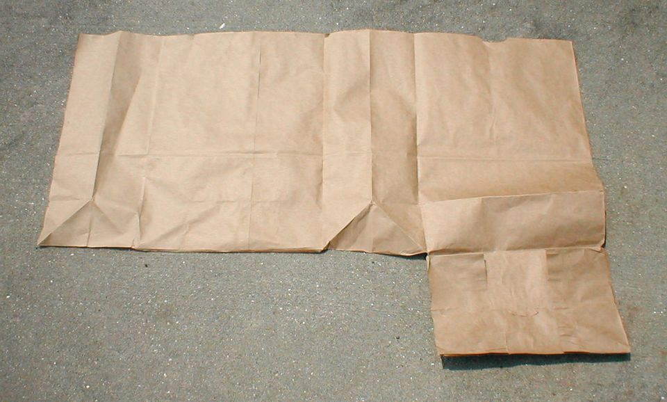 Making a Paper-Bag Book Cover - Step 1 - Cut the Bag