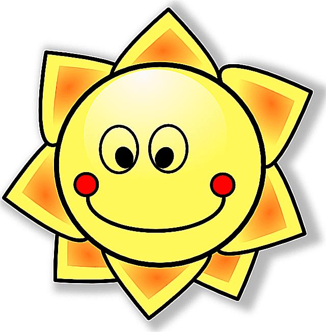 Screenshot of a smiling sun cartoon