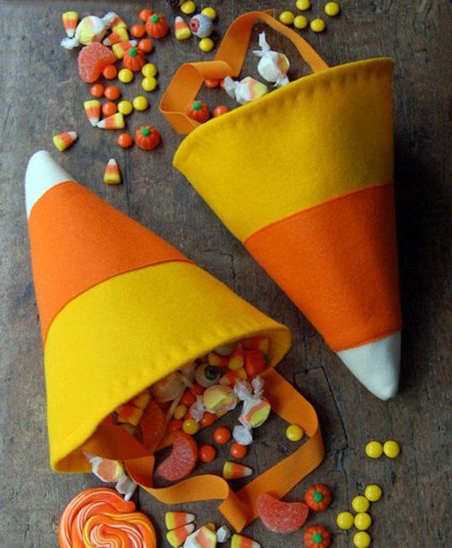 DIY candy corn bag