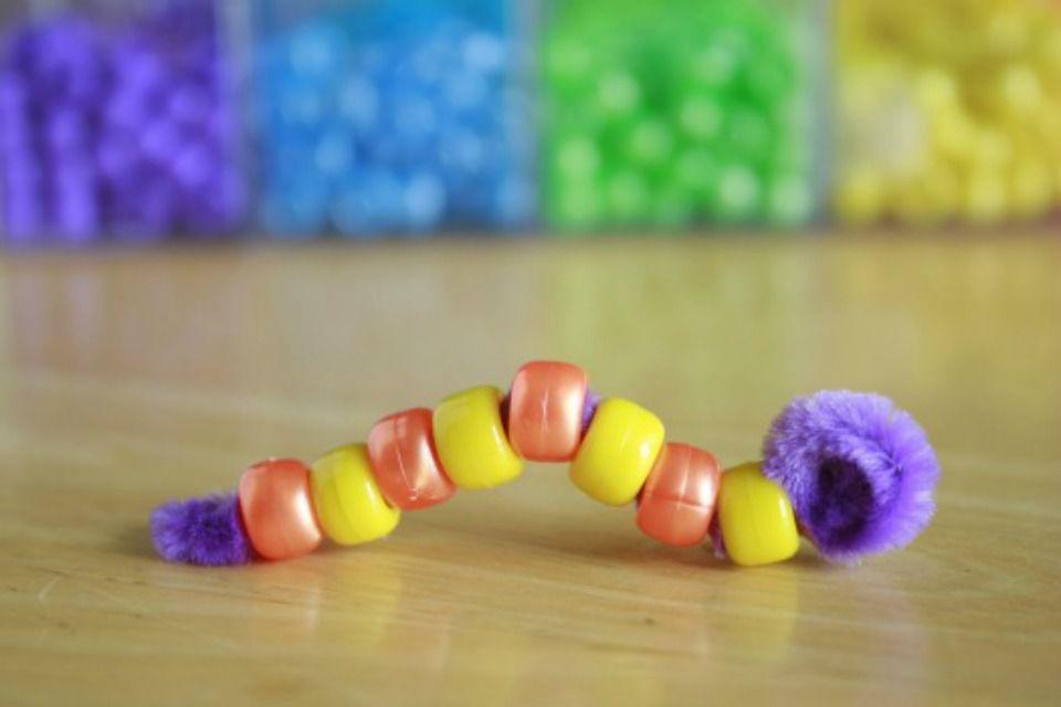 bead caterpillar craft
