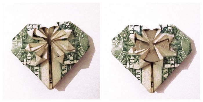 Dollar Origami Butterfly Tutorial - How to make a Dollar Butterfly ... | 354x700