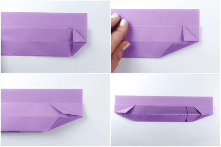 Long Origami Boat Dish Instructions