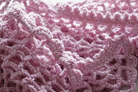 Easy Crochet Mesh Scarf Pattern
