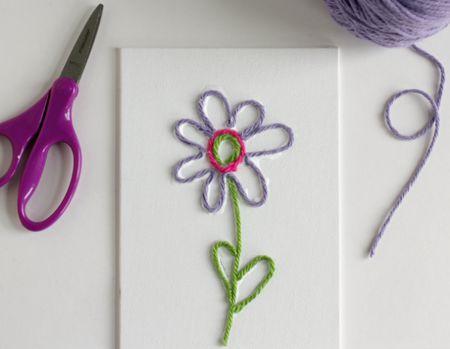 How To Make Spring Flower Yarn Art