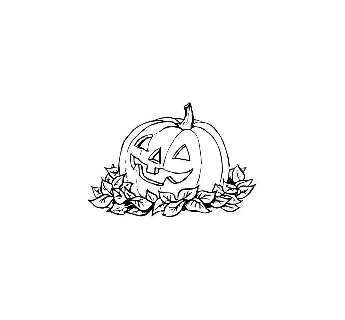 Pumpkin Outline Printable | Pumpkin Clip Art - Black and White - PDF