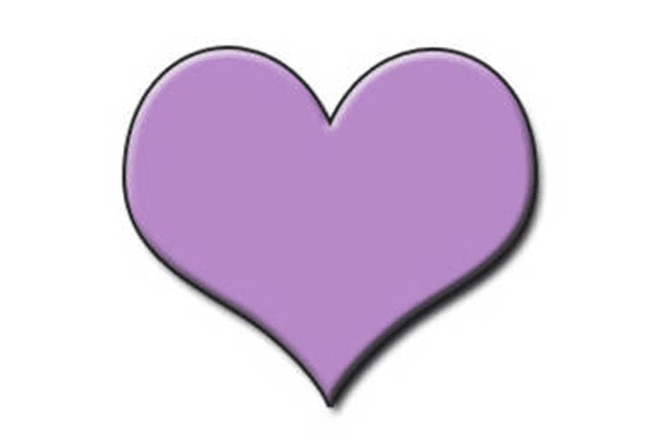 A lavender heart