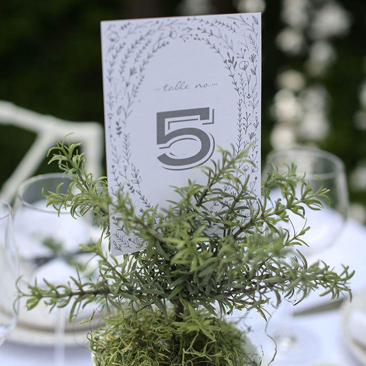 table number printable