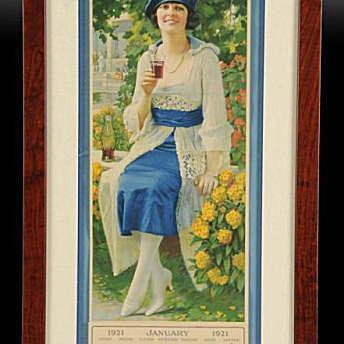 Coca-Cola Framed 1921 Calendar