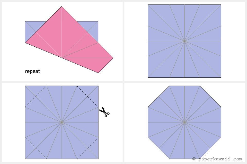 Origami Octagonal Tato Instructions on