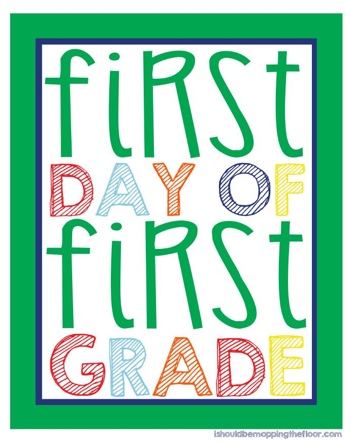 9 sets of free printable first day of school signs